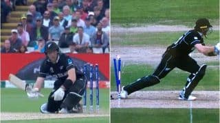 ICC Cricket World Cup 2019: Martin Guptill Gets Hit-Wicket of Andile Phehlukwayo's Bowling During New Zealand vs South Africa Match in Edgbaston   WATCH