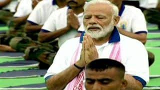 International Yoga Day News And Updates: PM Modi Leads Celebrations in Ranchi; Home Minister Amit Shah Joins in From Rohtak