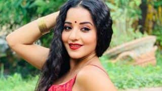 Bhojpuri Hot Bomb Monalisa's Latest Sexy Look in Red Ethnic Wear And Bold Red Lips Will Leave You Spellbound