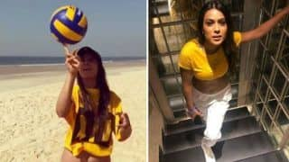 Nia Sharma Spins The Ball on Her Fingertips Like a Pro on a Beach And it Will Leave You Aww-struck