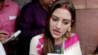 'I Represent an Inclusive India', Nusrat Jahan Hits Back at Clerics Who Criticised Her For Applying 'Sindoor'