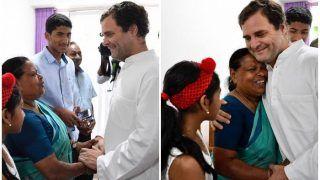 49 साल बाद उस नर्स से मिले राहुल गांधी, जिसने उन्हें जन्म के समय लिया था हाथों में, देखकर लिपट गईं