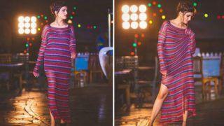 High-slit Gown में कहर ढा रही है सपना चौधरी, एक नज़र देखिए तो सही