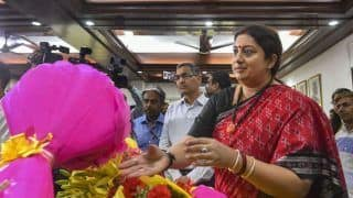 Smriti Irani Takes Charge of Women And Child Development Ministry