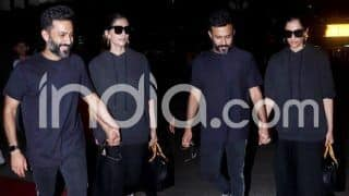 Sonam-Anand Spotted Hand in Hand at Airport as They Return From Romantic Japan Getaway