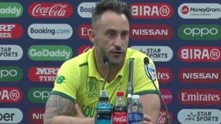CWC'19: Loss to Pak Borderline Embarrassing; Our Show in Tournament Mediocre, Says Du Plessis