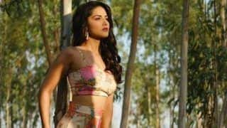 Sunny Leone Will Leave You Spellbound in Pink Crop Top And Thigh-high Slit Dress as She Poses in Midst of Forest