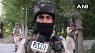 J&K: One Terrorist Gunned Down in Budgam Encounter; Firing Underway