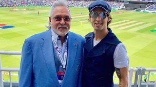वर्ल्ड कप 2019: भारत-ऑस्ट्रेलिया मैच देखने बेटे संग पहुंचा विजय माल्या, कही ये बात