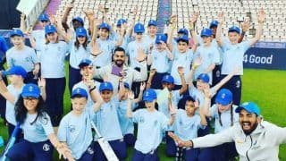Babies' Day Out! Kohli, Rahul Spend Time With School Kids During WC'19 Event | PICS