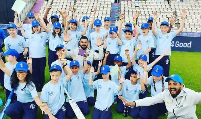 Virat Kohli, KL Rahul, Hardik Pandya Spend Time With School Kids During Cricket World Cup 2019 Promotional Event Hosted by ICC | SEE PICS