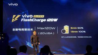 Vivo Super FlashCharge 120W announced at MWC Shanghai 2019