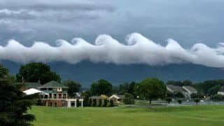 This Viral Picture of Bizarre Wave-shaped Like Clouds Leave Internet in Amaze