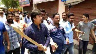 VIDEO: BJP के राष्ट्रीय महासचिव के विधायक बेटे ने सरकारी कर्मचारियों की ऐसी की पिटाई