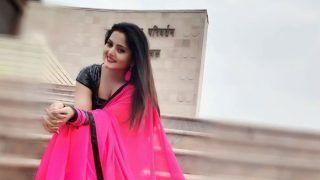 Bhojpuri Bombshell Anjana Singh's Pink Saree And Black Blouse Look Sets The Temperature Soaring