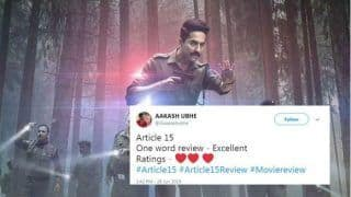 Article 15 Twitter Review: Netizens Praise Ayushmann Khurrana's Performance, 'it is a Film to Watch'
