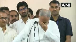 Bhupesh Baghel Tears up While Passing Baton of Chhattisgarh Congress Unit to New Chief | Watch