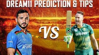 Dream11 Team SA vs AFG ICC Cricket World Cup 2019 – Cricket Predictions Tips For Today's World Cup South Africa vs Afghanistan at Sophia Gardens, Cardiff