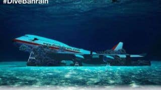 Bahrain Sinks Boeing 747 Worth $100,000 For an Underwater Theme Park, Watch Here