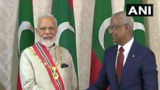 PM Modi Conferred Upon 'Nishan Izzuddeen', Maldives Highest Honour Accorded to Foreign Dignitaries