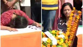 मेरठ लाया गया शहीद मेजर का पार्थिव शरीर, मां ने पूछा- 'कहां गया मेरा शेर बेटा'