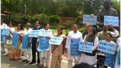 'We Want Paper Ballot',TMC MPs Protest Against EVMs Outside Parliament
