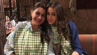 Eid-ul-Fitr: Sara Ali Khan And Mother Amrita Singh Wish Fans as They Twin in Checkered Aprons