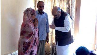 Amit Shah in Kashmir: Home Minister Visits Kin of J&K Cop Martyred in Anantnag Attack