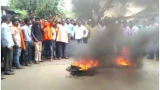 West Bengal: BJP Supporters Protest After Worker Was Shot at by Police For Chanting 'Jai Shri Ram'