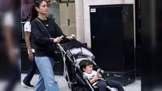 Taimur Ali Khan Busy Playing on Phone as Mom Kareena Kapoor Khan Takes Him Out on a Stroll in London