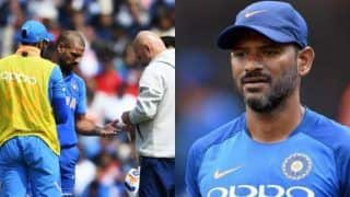 ICC Cricket World Cup 2019: R Sridhar Not Sure if Shikhar Dhawan Could Field in Slip Region Immediately After Comeback
