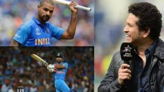ICC Cricket World Cup 2019: Sachin Tendulkar Backs Injured Shikhar Dhawan to Come Back Strongly, Congratulates Rishabh Pant on Selection in India's WC Squad