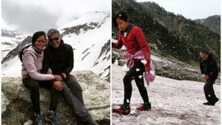 Ankita Konwar-Milind Soman's Head in Clouds Picture is Exactly The Kind of Adventure we Are Looking Out For!