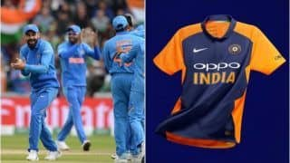 Nike Unveils Team India's New Orange Jersey to be Worn Against England During ICC Cricket World Cup 2019 Match in Edgbaston | SEE PICS