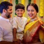 Sameera Reddy Shares Adorable Godh Bharai Picture With Husband And Son