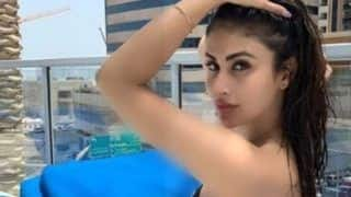 Mouni Roy Sizzles as She Flaunts Her Curves in Black And White Bikini