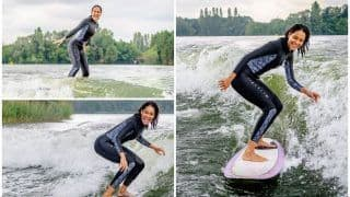 Lisa Haydon Surfing Like a Pro Will Surely Make You Yearn For The Waves This Weekend, Viral Pictures Break Internet