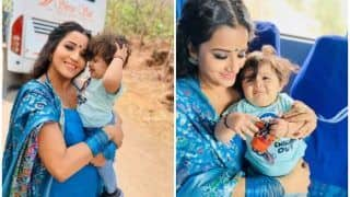 Monalisa's Behind The Scenes GIF With Baby Kiara on Nazar's Set is All You Need to Drive Away Mid-Week Blues!