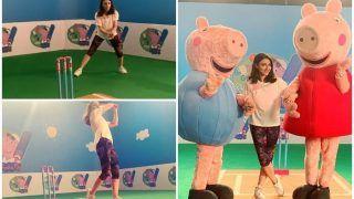 Soha Ali Khan Shows Father Mansoor Ali Khan Pataudi's Cricket Streak as She Bats 'Over The Rainbow'