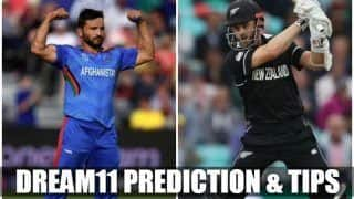 Dream11 Team Afghanistan vs New Zealand ICC Cricket World Cup 2019 – Cricket Prediction Tips For Today's World Cup Match AFG vs NZ at The Cooper Associates County Ground, Taunton