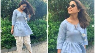 Hina Khan Keeps it Comfy Yet Stylish During Mumbai Monsoon, Wears Blue Short Kurti And Dhoti Pants, Check Drool-worthy Pictures