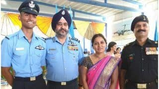 IAF Chief BS Dhanoa Gifts His 'Wings' to a Young Pilot, Says Soar High
