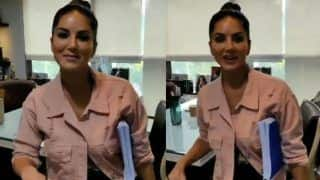 Sunny Leone Speaks in UP Tone With Her Team And It's All Funny, Watch Here