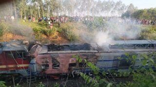 समलेश्वरी एक्सप्रेस हादसे की शिकार, इंजन में आग लगी, रेलवे के तीन कर्मचारियों की मौत