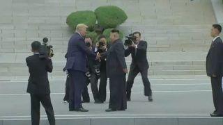 US President Donald Trump, North Korean Leader Kim Jong Un Meet at Demilitarized Zone, Shake Hands