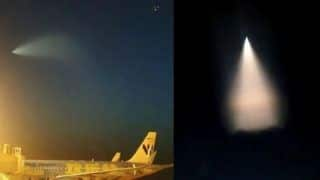 Chinese Spotted UFO With a Glowing Fiery Tail Streak, Netizens Share Proof During Naval Exercise