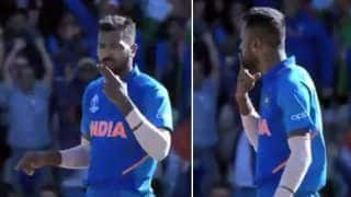 Hardik Pandya's KISS Celebration After Shakib al Hasan's Wicket During India vs Bangladesh 2019 World Cup Match is Unmissable | WATCH VIDEO