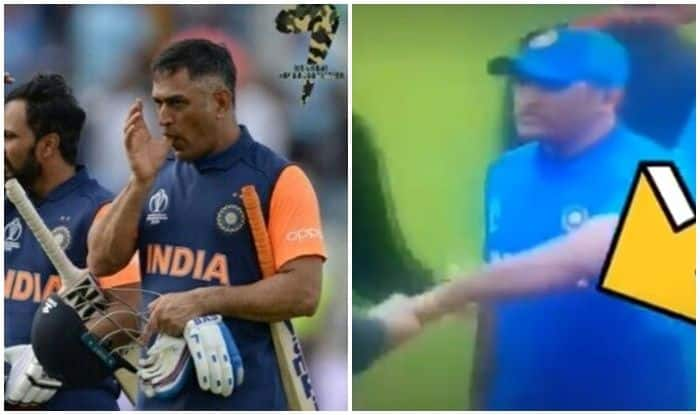 MS Dhoni Injury Left Handshake IND vs NZL 2019 ICC CWC
