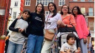 Karisma Kapoor is Chilling With FamJam Kareena Kapoor Khan, Taimur Ali Khan And Others in London