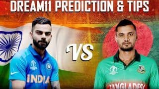 Dream11 Team Bangladesh vs India ICC Cricket World Cup 2019 - Cricket Prediction Tips For Today's World Cup Match BAN vs IND at Edgbaston, Birmingham